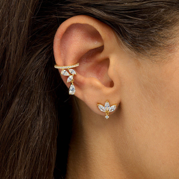 Teardrop Charm Ear Cuff - Adina's Jewels