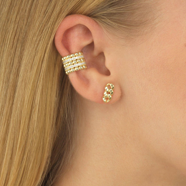 Beaded CZ Ear Cuff - Adina's Jewels