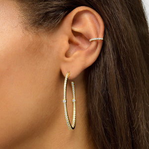 Pavé Hinge Ear Cuff  - Adina's Jewels