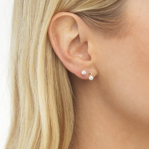 Medium Pearl Stud Earring - Adina's Jewels