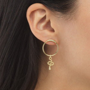 Dangling Snake Stud Earring - Adina's Jewels