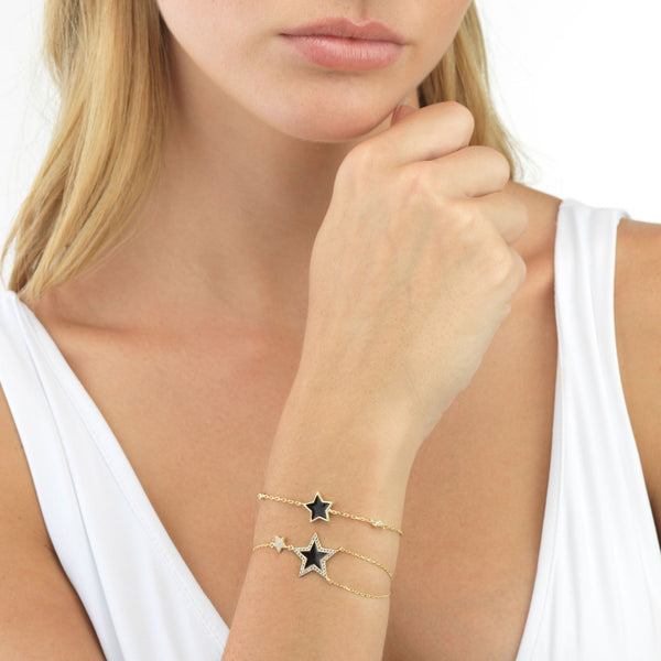 Enamel Star Bracelet - Adina's Jewels