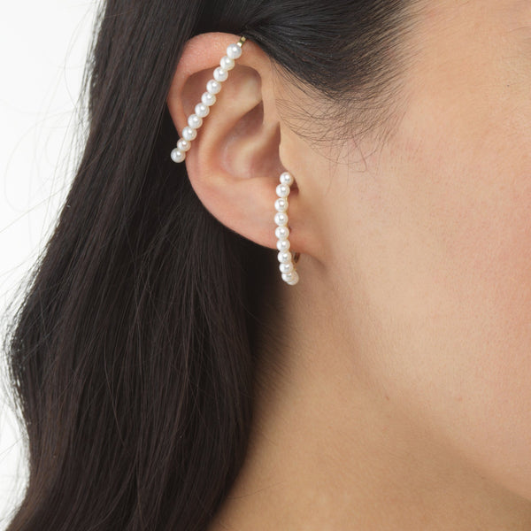 Pearl Bar Cartilage Cuff - Adina's Jewels