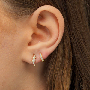 Lightning Stud Earring  - Adina's Jewels