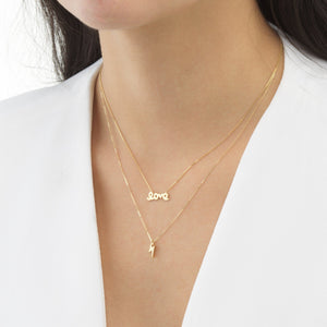 Lightning Necklace 14K - Adina's Jewels