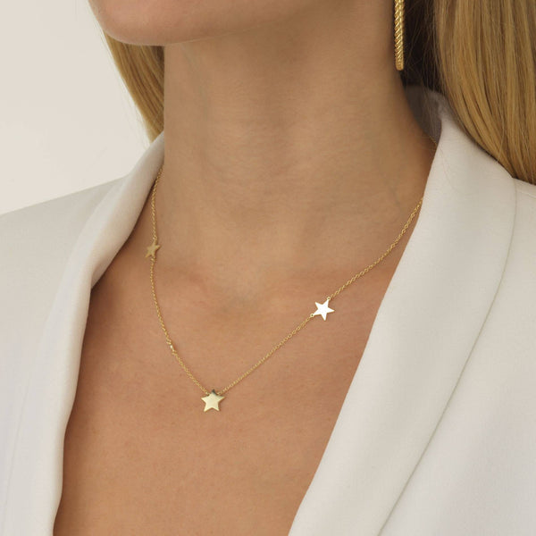 Triple Star Necklace - Adina's Jewels