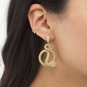Double Pavé Hinge Ear Cuff - Adina's Jewels