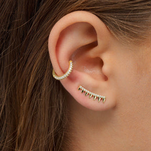 Colored Spiked Ear Climber - Adina's Jewels