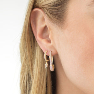 Colored Spike Huggie Earring - Adina's Jewels