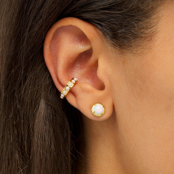 Opal Stud Earring - Adina's Jewels