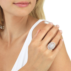 Medallion Flower Ring  - Adina's Jewels
