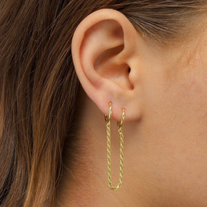 Rope Chain Huggie Earring  - Adina's Jewels