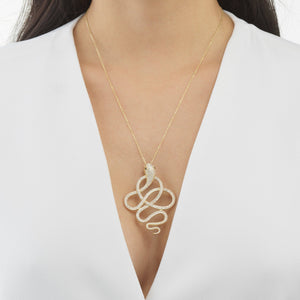 Twisted Snake Necklace - Adina's Jewels
