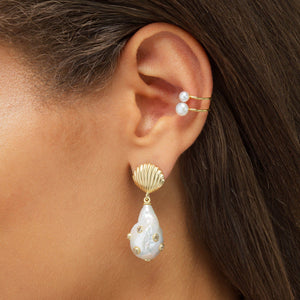 Pearl Open Ear Cuff  - Adina's Jewels