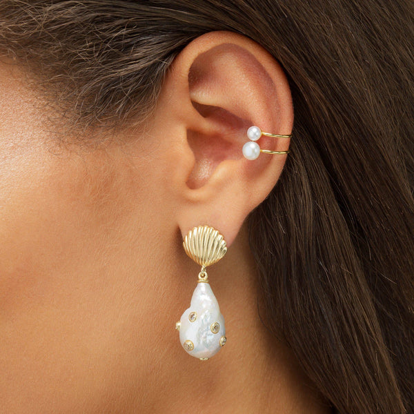 Pearl Open Ear Cuff