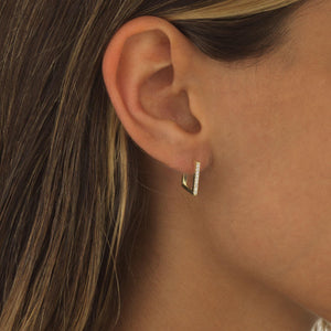 Pavé Square Hoop Earring - Adina's Jewels