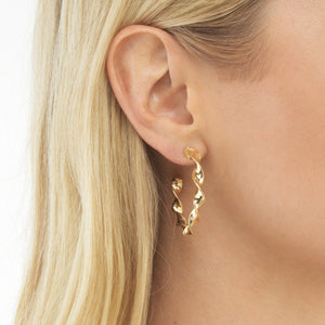 Spiral Hoop Earring  - Adina's Jewels