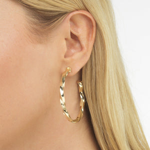 Twisted Hoop Earring - Adina's Jewels