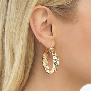 Twist Hoop Earring - Adina's Jewels