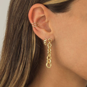 Solid Triple Ear Cuff 14K - Adina's Jewels