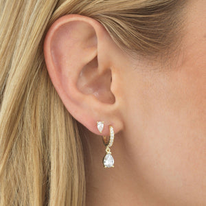 Mini Teardrop Stud Earring - Adina's Jewels