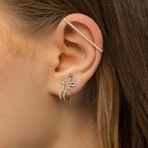 Snake Hook Stud Earring - Adina's Jewels