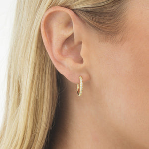 CZ Open Hoop Earring - Adina's Jewels