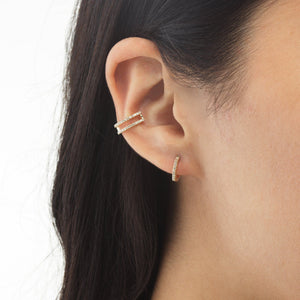 Diamond Open Ear Cuff 14K - Adina's Jewels