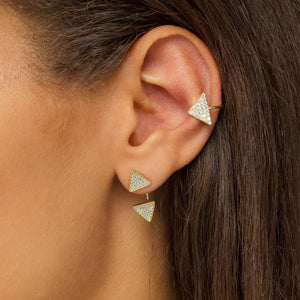 Triangle Stone Ear Cuff - Adina's Jewels