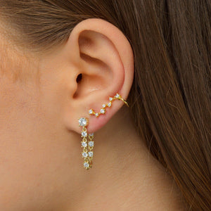 Tennis Loop Stud Earring - Adina's Jewels