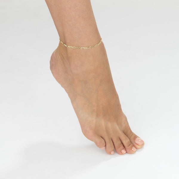 Figaro Chain Anklet - Adina's Jewels