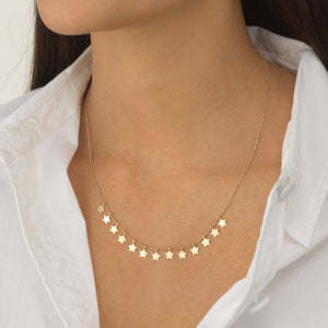 Star Chain Necklace 14K - Adina's Jewels