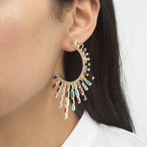 Spike Baguette Hoop Earring  - Adina's Jewels