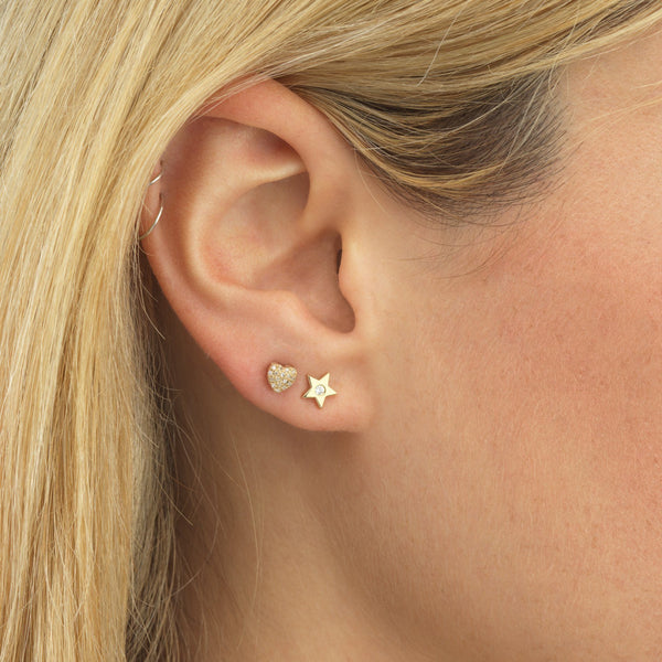 Diamond Stars Stud Earring 14K - Adina's Jewels