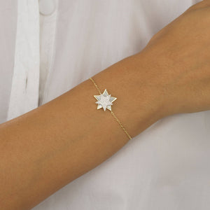 Mother of Pearl Star Bracelet - Adina's Jewels