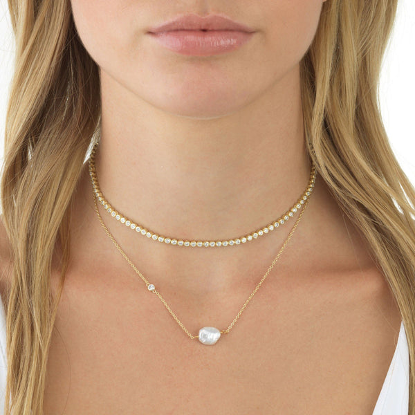 Pearl Stone Necklace - Adina's Jewels
