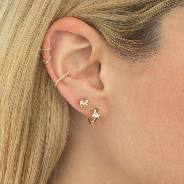 Beaded Ear Cuff 14K - Adina's Jewels