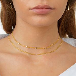 Stone Chain Choker - Adina's Jewels