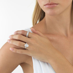 Double Row Princess Cut Ring  - Adina's Jewels