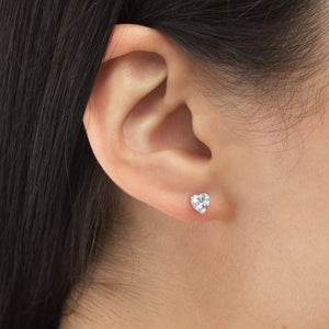 Mini Heart CZ Stud Earring - Adina's Jewels