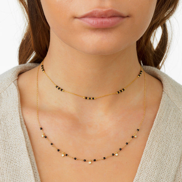 Beaded Chain Choker - Adina's Jewels