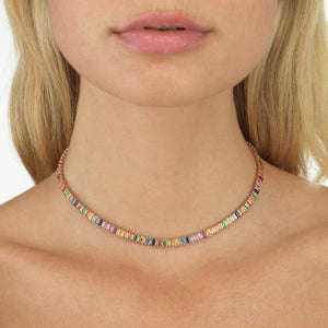 Diamond Baguette Choker 14K - Adina's Jewels