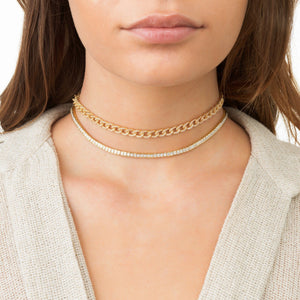 Princess Cut Tennis Choker - Adina's Jewels