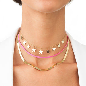 Neon Herringbone Necklace - Adina's Jewels