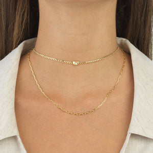 Diamond Chain Necklace 14K - Adina's Jewels