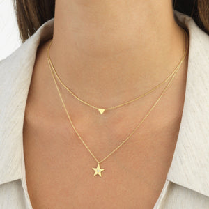 Diamond Star Necklace 14K  - Adina's Jewels