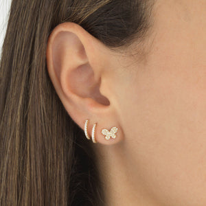CZ Mini Huggie Earring 14K - Adina's Jewels