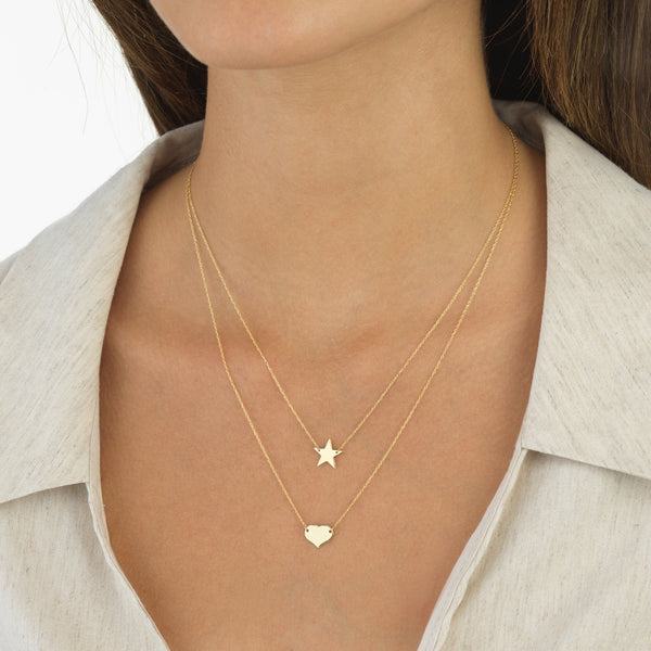 Mini Star Necklace 14K - Adina's Jewels