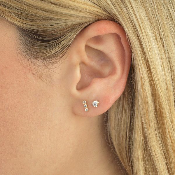 CZ Stud Earring 14K - Adina's Jewels
