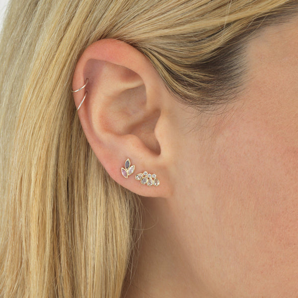 Pastel Leaf Stud Earring 14K - Adina's Jewels